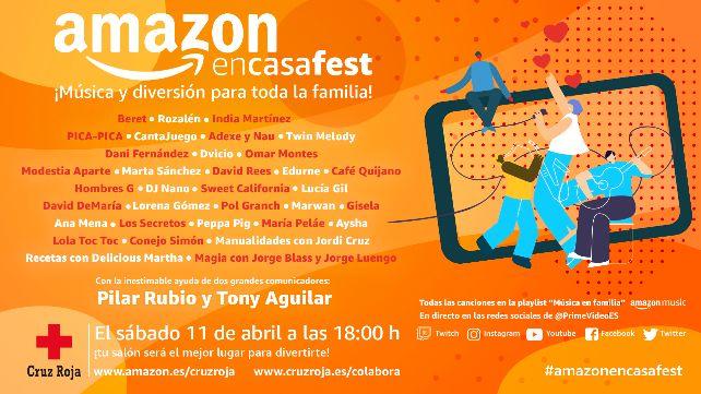 #AmazonEnCasaFest, música y planes para la familia en cuarentena