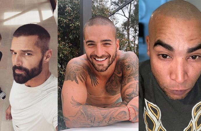 5 artistas latinos que se han rapado la cabeza