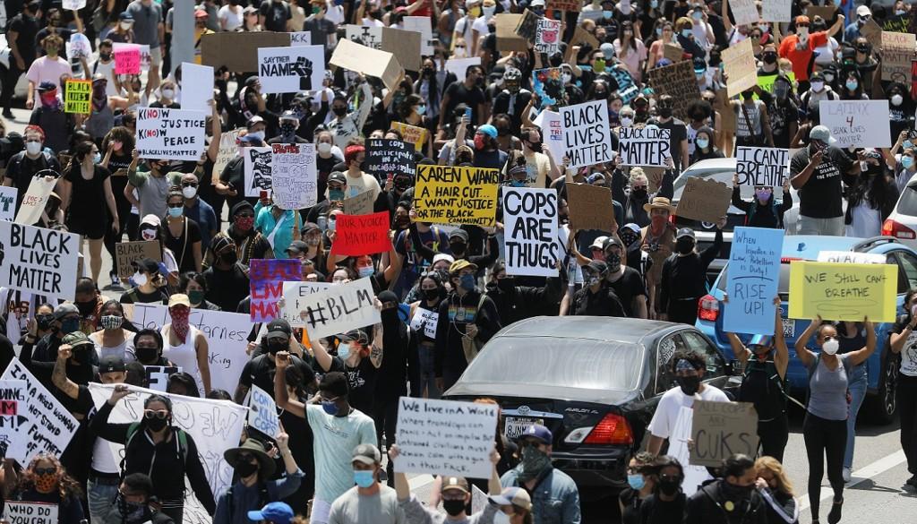 Black Lives Matter, el mensaje que se ve en las calles tras la muerte de George Floyd.